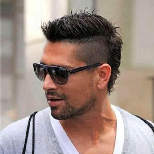 Fade mohawk peinados para hombres