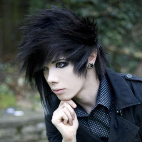 Goth Punk Hairstyles para chicos
