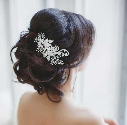 Estilos de cabello de la boda para el cabello largo