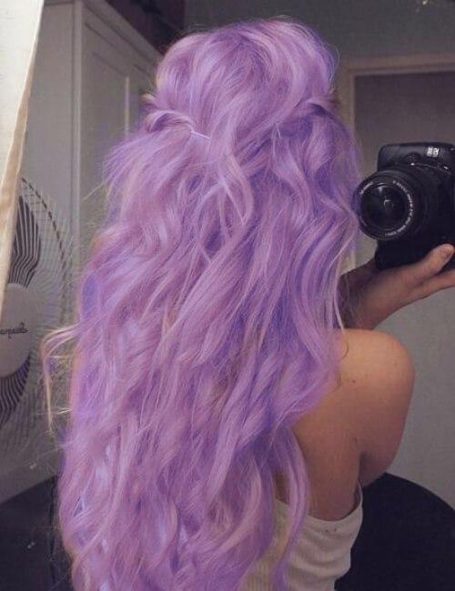 tono lila de pelo morado