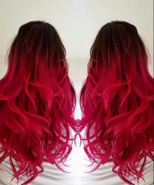 pelo rojo ombre