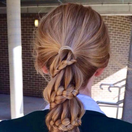 carrusel trenza peinados para cabello largo