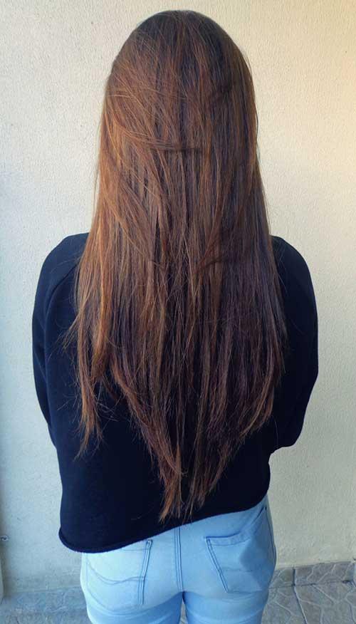 20 Peinados Rectos De Capas Largas 187 Largo Peinados