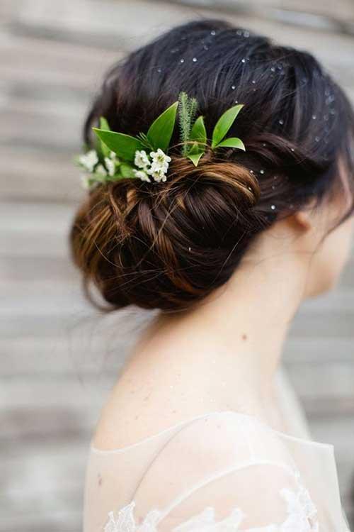 Peinados de boda con imágenes de flores
