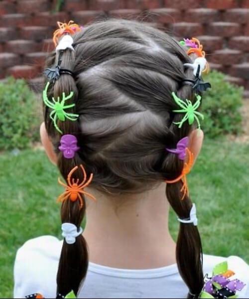 peinados de niña de halloween