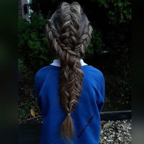 pelo largo trenzado peinados de niñas