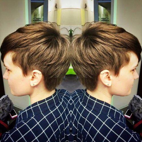 pelo corto de caramelo