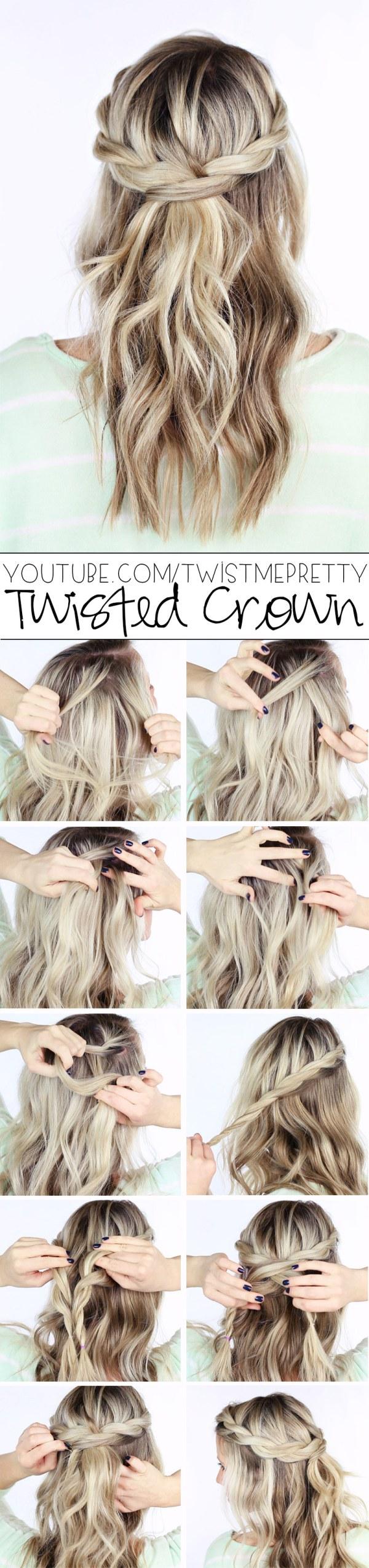 Twisted Crown Braid Tutorial.