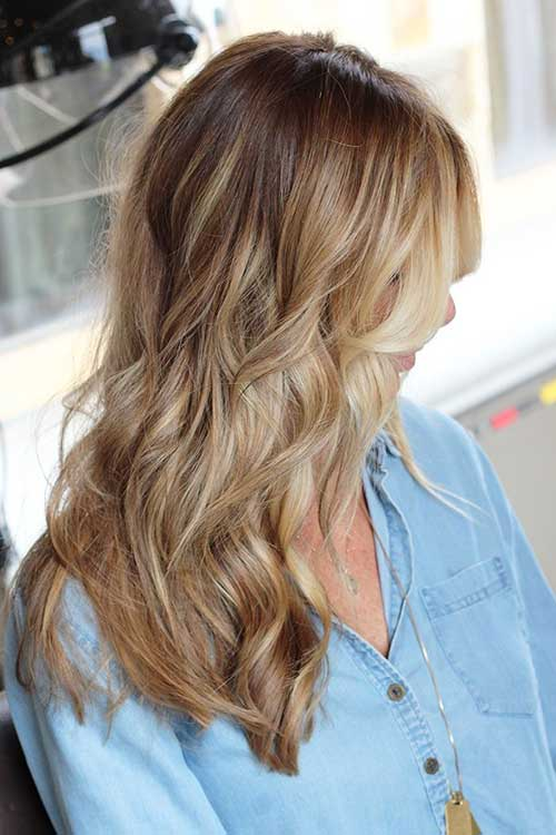 Brown a los peinados de colores rubios