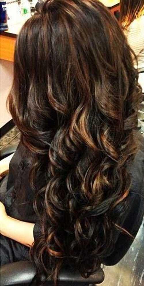 Peinados largos marrones oscuros-8