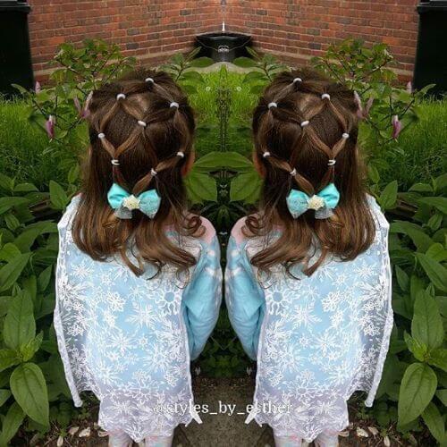 peinados elásticos para niñas