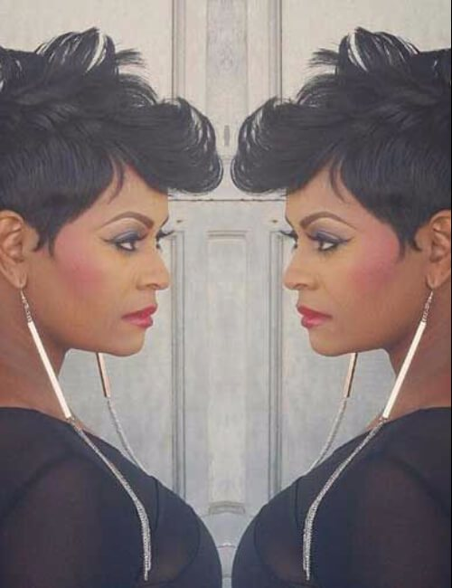 elegantes peinados cortos para mujeres negras