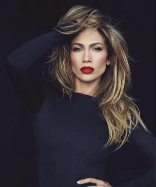 jennifer lopez peinados de longitud media