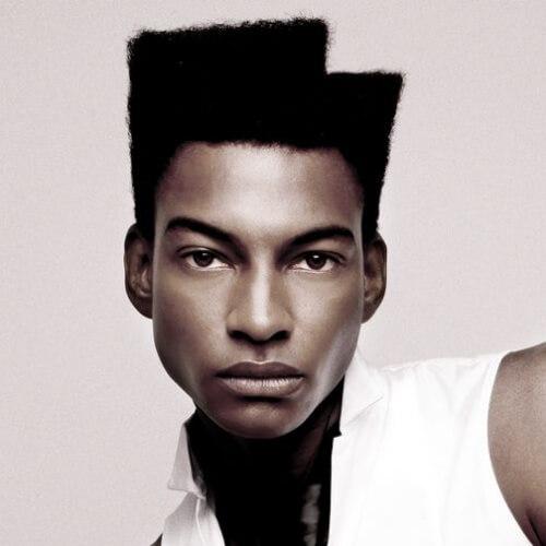 Peinados afro asimétricos para hombres