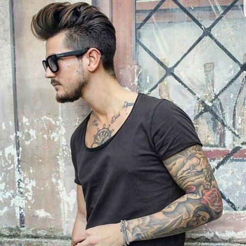 peinados retro pomp para hombres