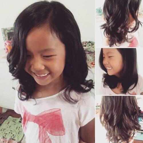 peinado en capas para niñas pequeñas