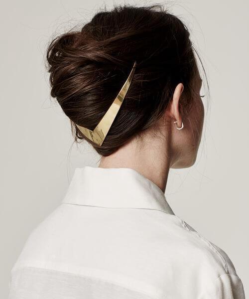 peinados de boda minimalista para cabello largo