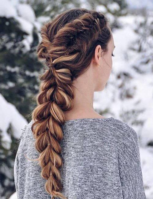Bañadores holandeses y una trenza pull-through para cabello largo