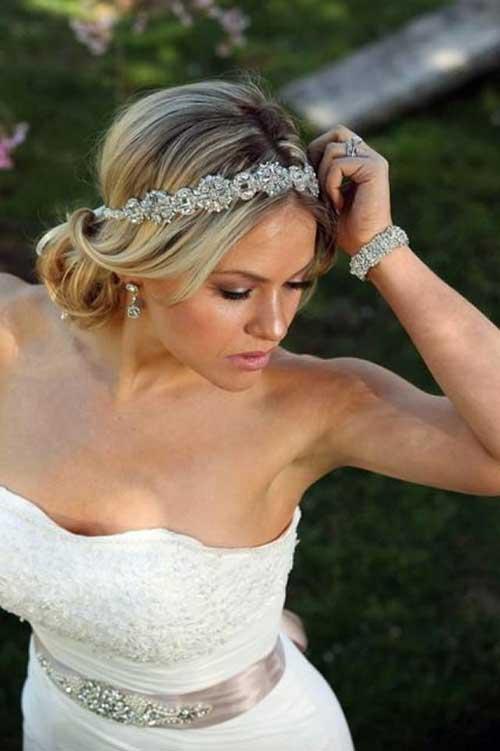 Nuevos hermosos peinados de boda con diadema