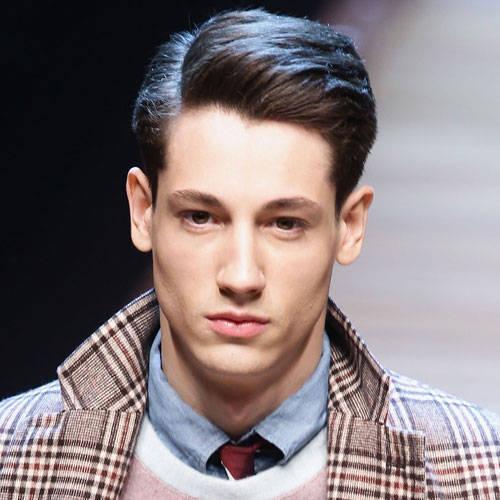 peinados de longitud media partidas aseadas para hombres