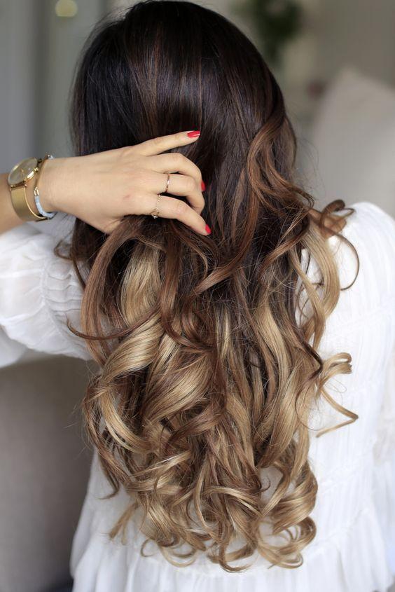 cabello castaño ombre castaño ombre con reflejos rubios