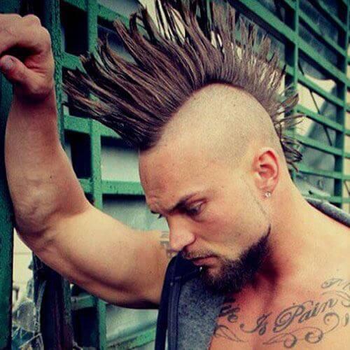 Fanned Punk Mohawk