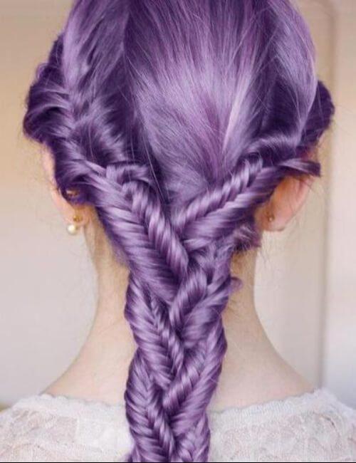 cola de pez púrpura