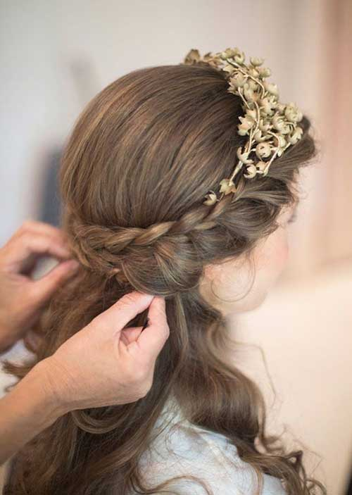 La mitad de los peinados de boda y baile de graduación