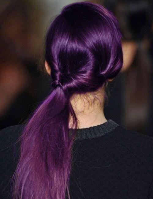 sombra de berenjena de pelo morado
