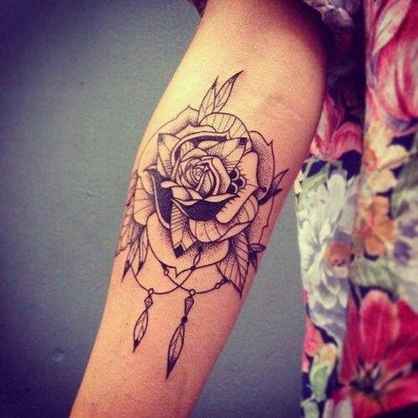 Flor sueño receptor de tatuajes.
