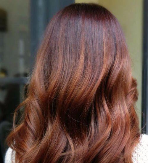 Rose Gold Copper Ombre Auburn hair color