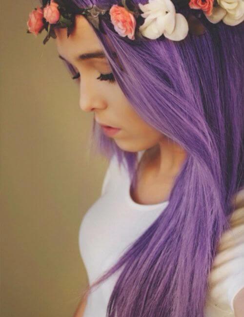 lila festival de pelo morado