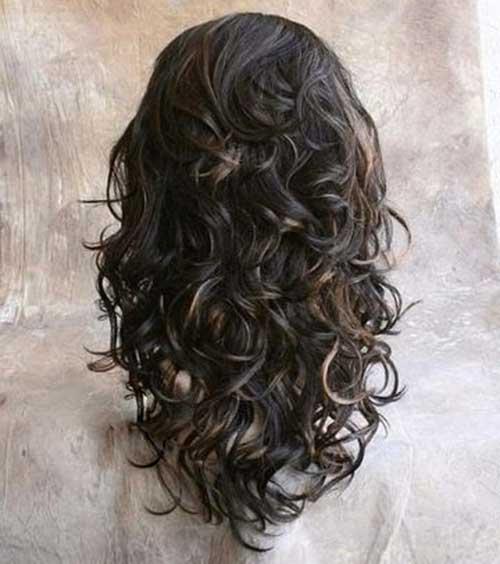Las mejores capas largas para cabello rizado