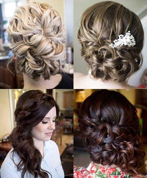 Trenzado Updo Hairstyles Ideas para la boda