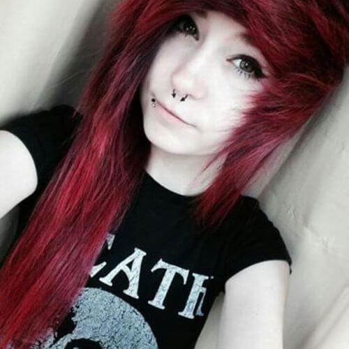 chicas emo pelo rojo