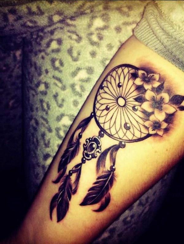 Ideas de diseño de tatuaje de Dreamcatcher.