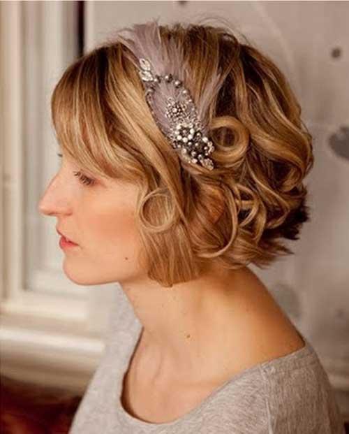Estilos cortos de la boda del pelo nupcial
