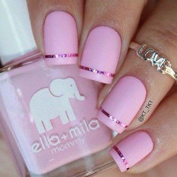 45 diseños de arte de uñas bastante rosa » Page 6 of 6 » Largo Peinados