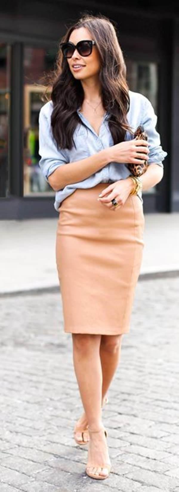 trajes de falda lápiz 1