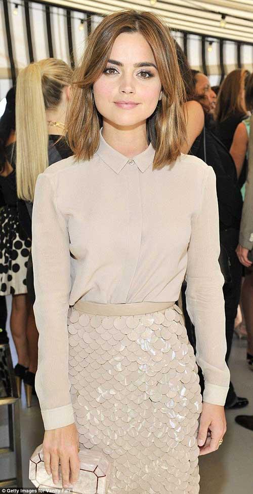 Corte de pelo de longitud media de celebridades