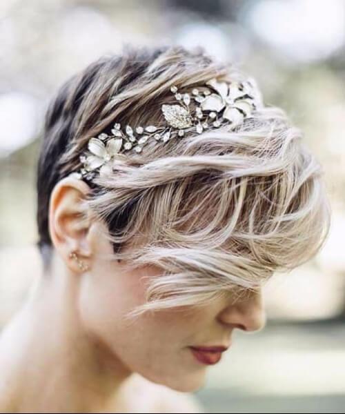peinados de boda para el pelo corto