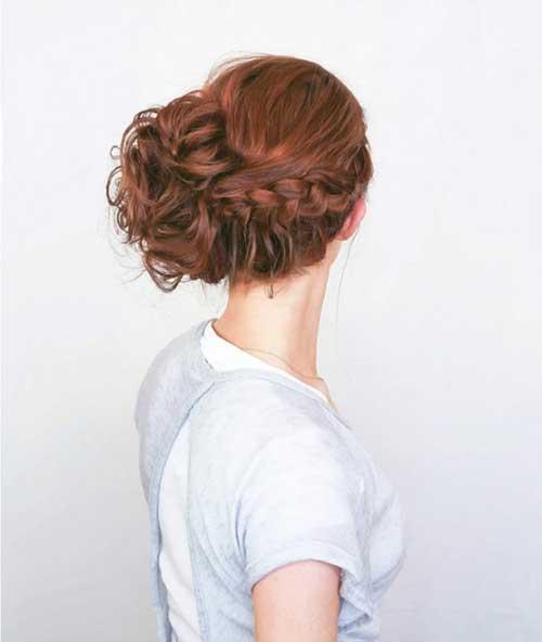 Chic Updo con trenza Hairtyles