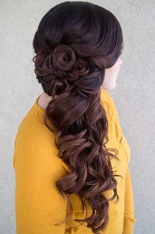 Lindos y largos peinados rizados-15