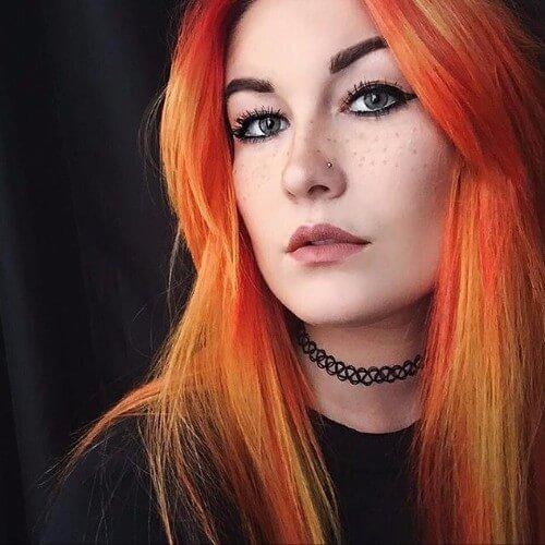 balayage de pelo rojo