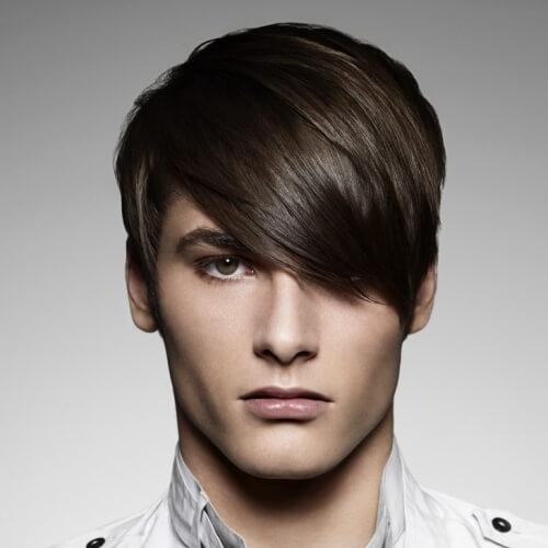 Cortes de pelo con flequillo largo
