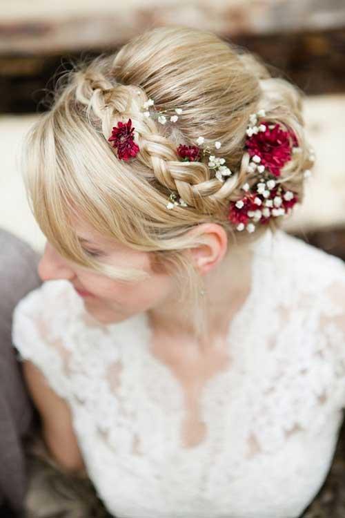 Corona de flores para imágenes de cabello de la boda