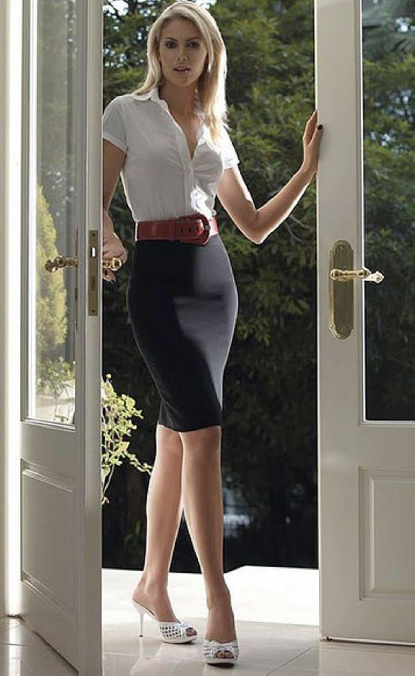trajes de falda lápiz 29