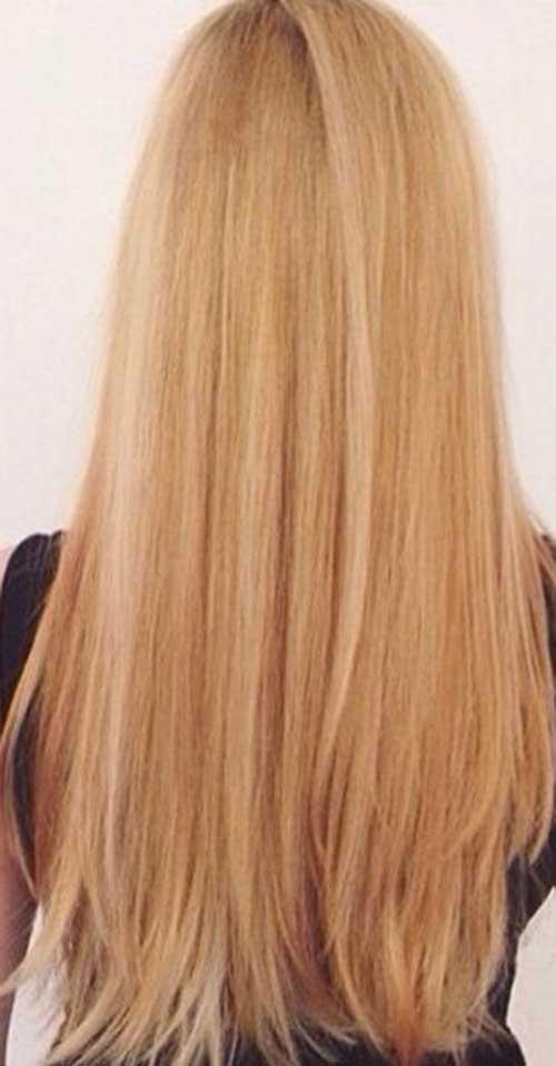 Peinados largos rubios largos de fresa