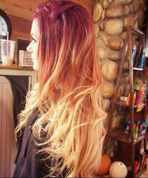 fuego ombre pelo rojo