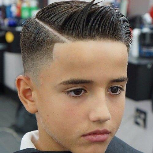Peinados de partes duras para chicos adolescentes